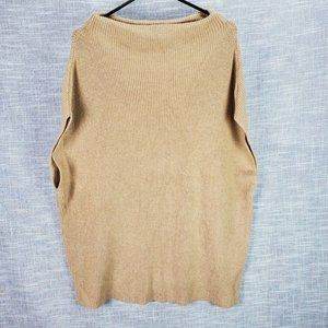 Chico's Poncho Sweater Large 2 Tan Oversized